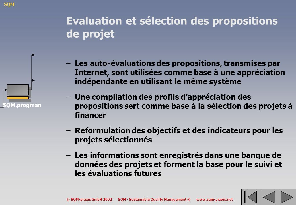 Evaluation et sélection des propositions de projet