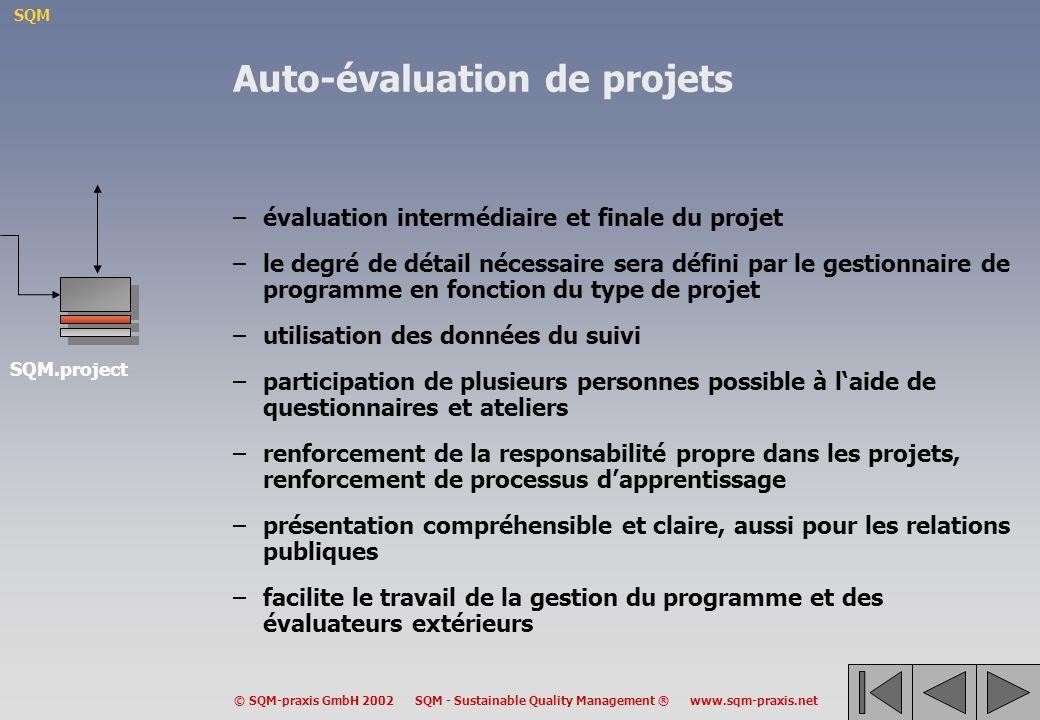 Auto-évaluation de projets