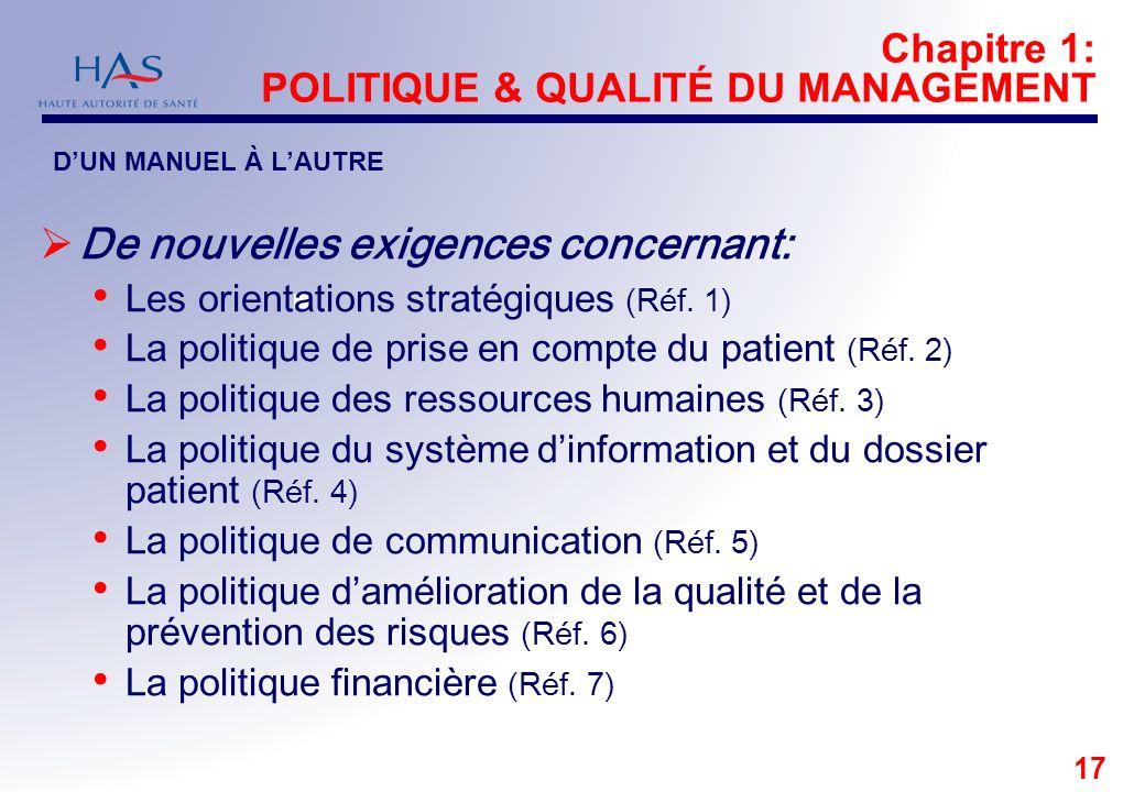 Chapitre 1: POLITIQUE & QUALITÉ DU MANAGEMENT