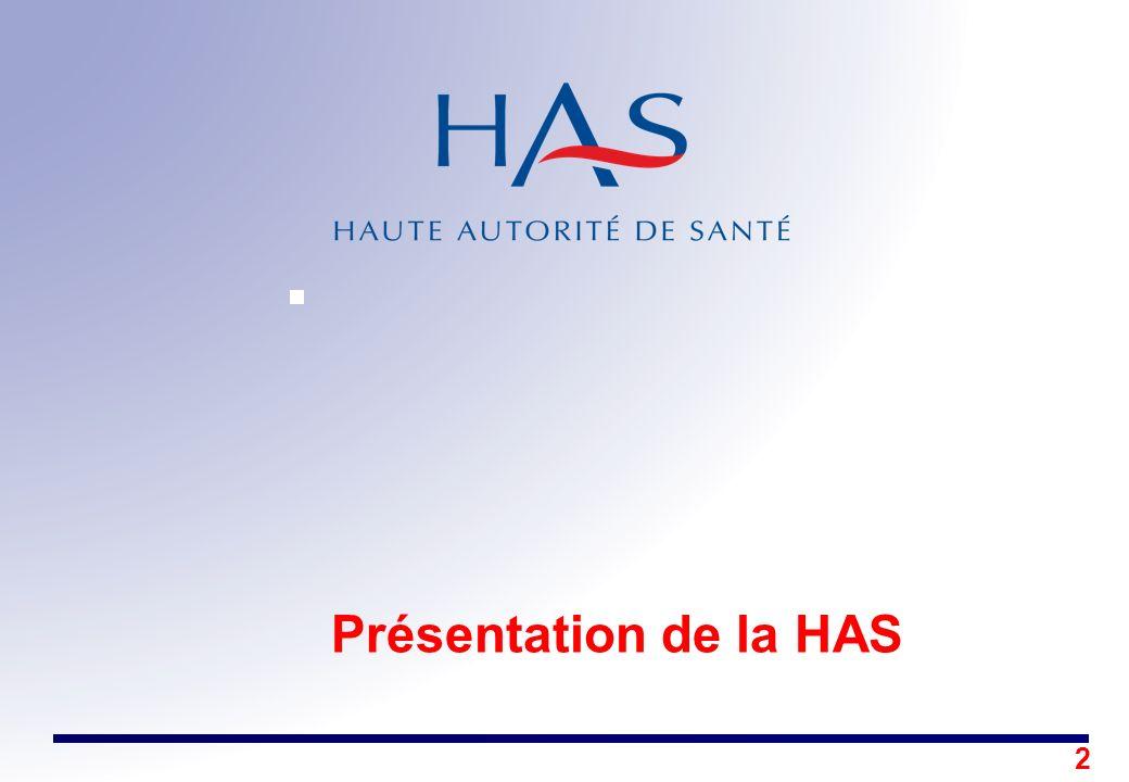 Présentation de la HAS Décembre 2005