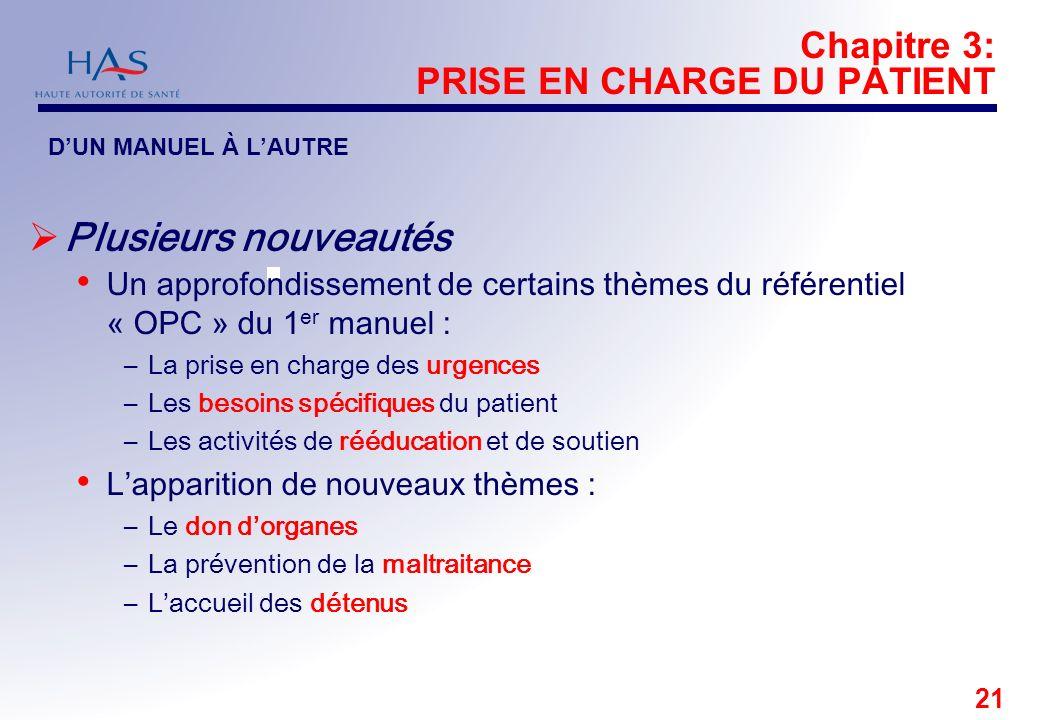 Chapitre 3: PRISE EN CHARGE DU PATIENT