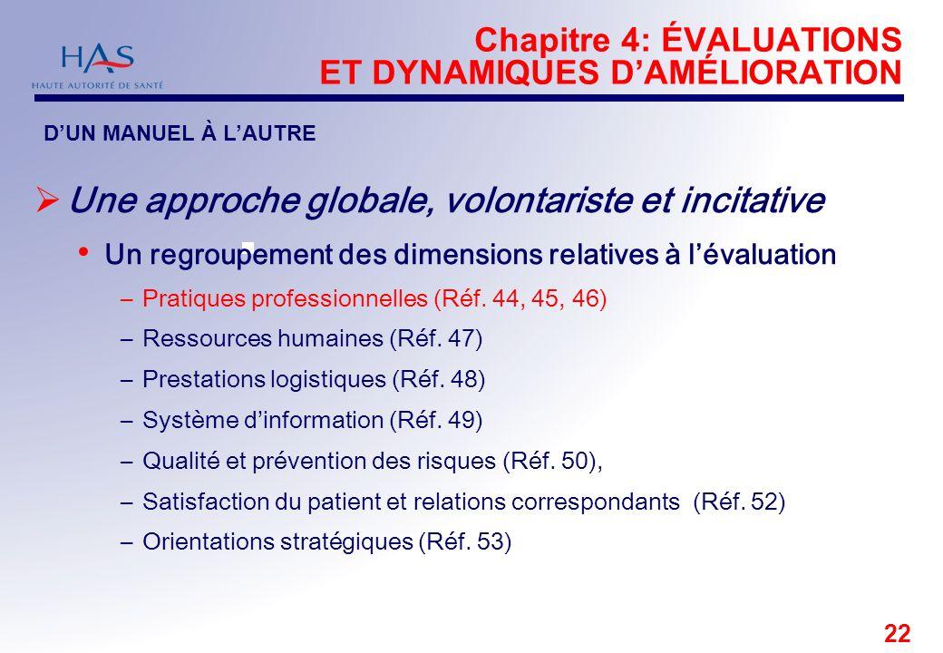 Chapitre 4: ÉVALUATIONS ET DYNAMIQUES D'AMÉLIORATION