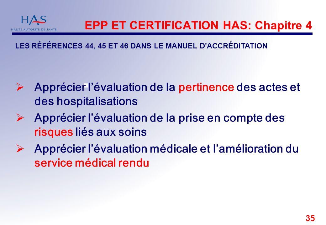EPP ET CERTIFICATION HAS: Chapitre 4