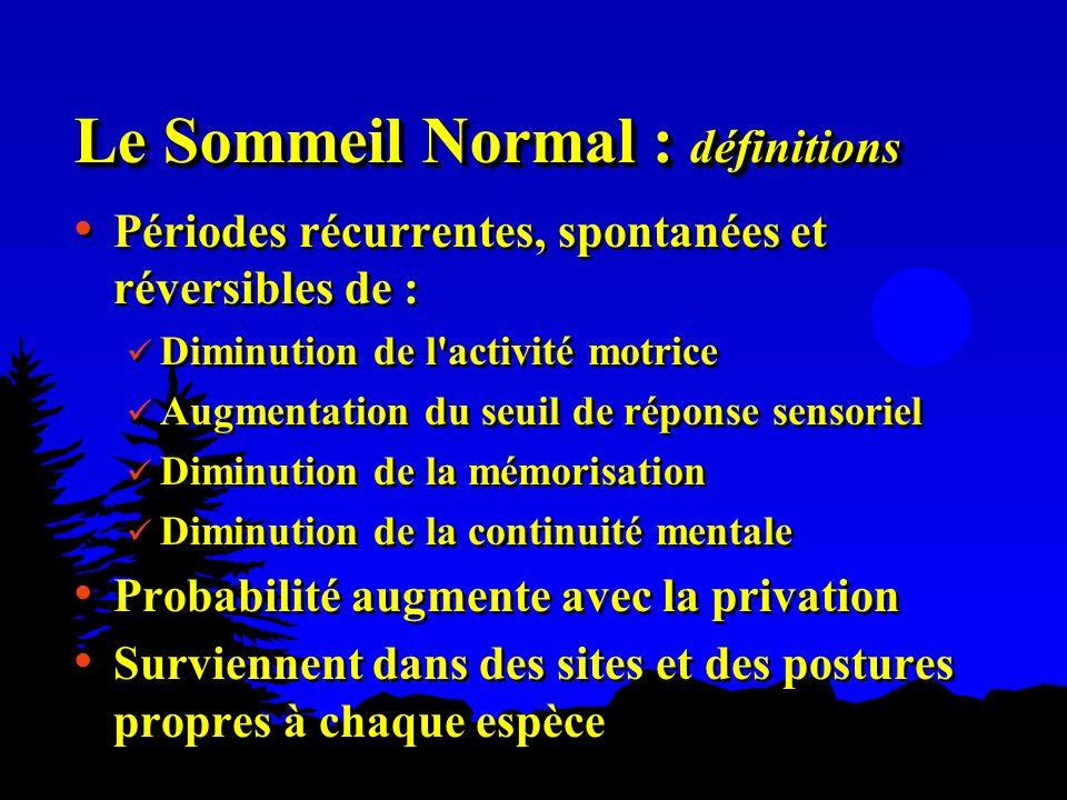 Le Sommeil Normal : définitions