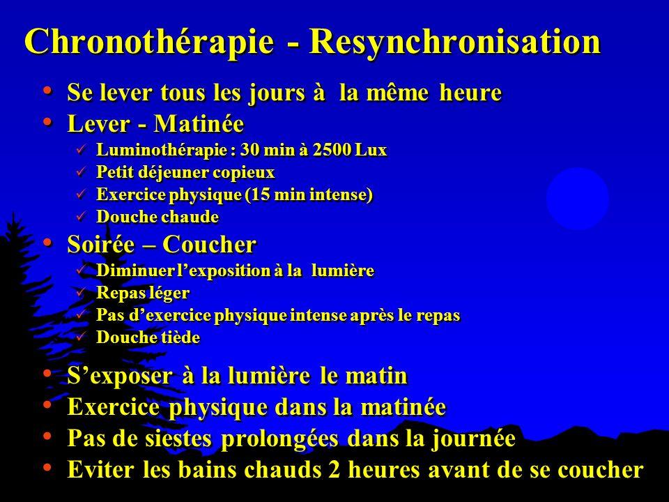 Chronothérapie - Resynchronisation