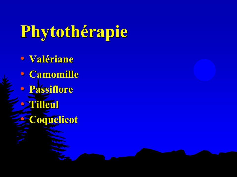Phytothérapie Valériane Camomille Passiflore Tilleul Coquelicot