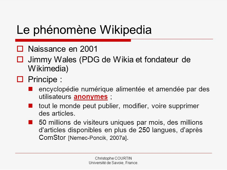 Le phénomène Wikipedia