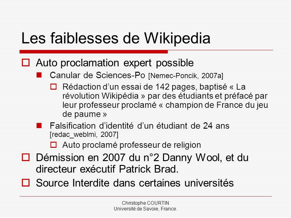 Les faiblesses de Wikipedia