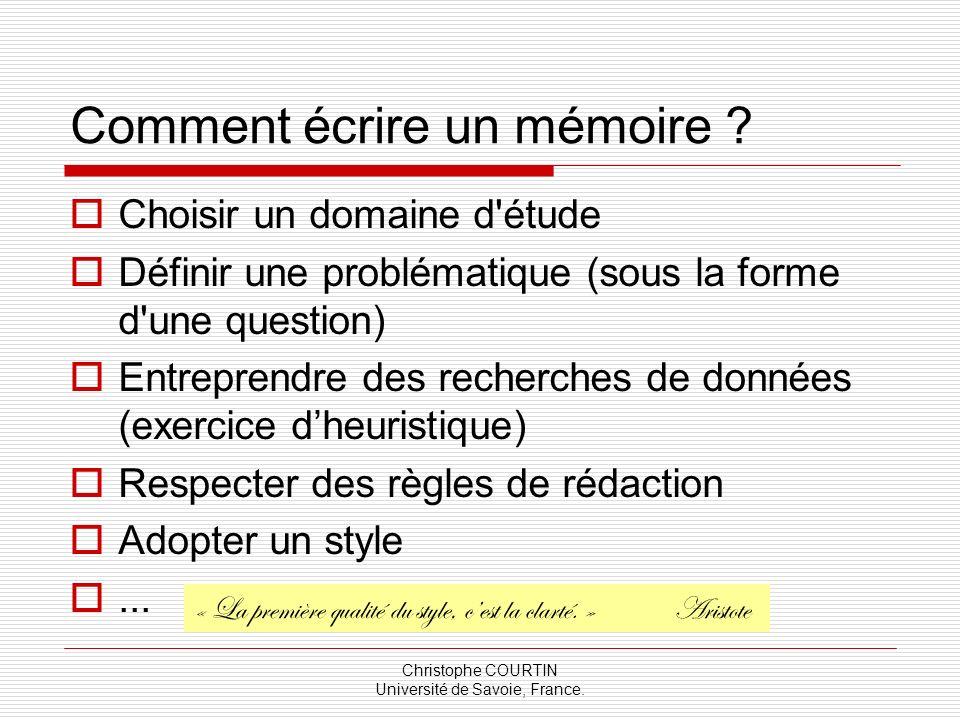 Comment écrire un mémoire