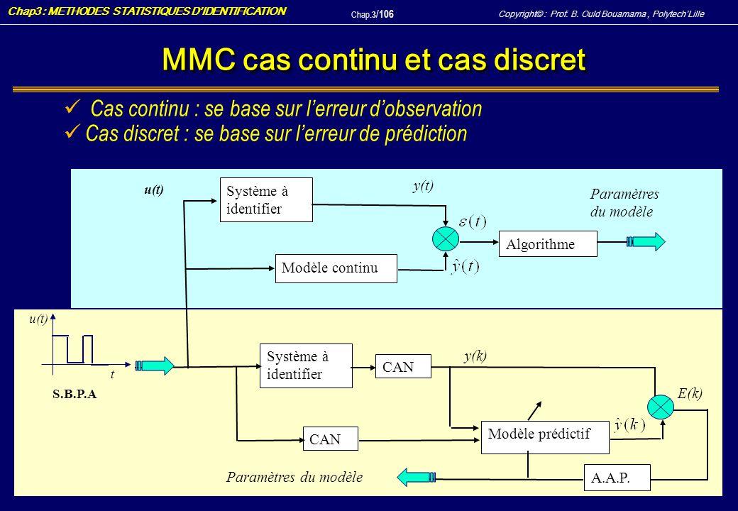 MMC cas continu et cas discret