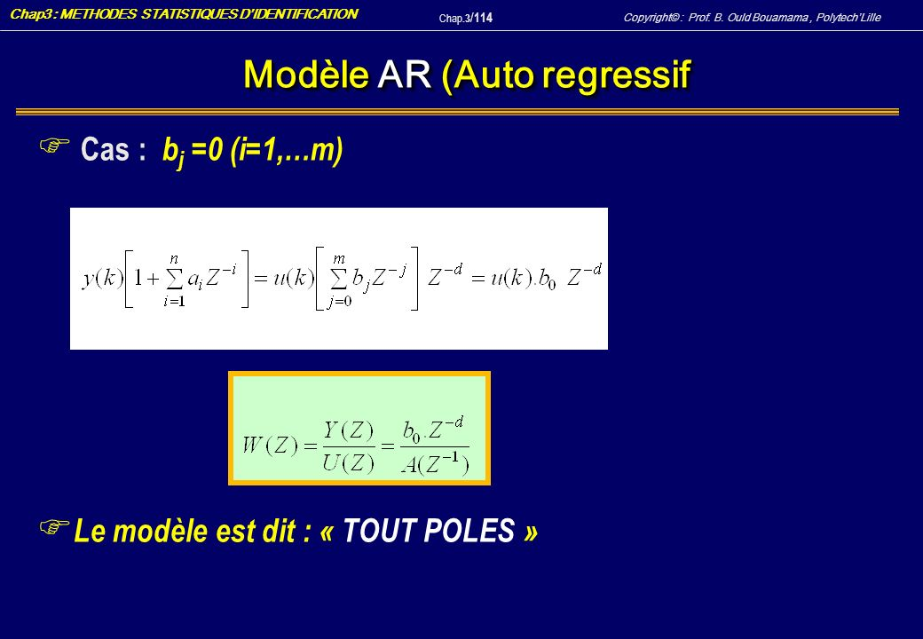 Modèle AR (Auto regressif