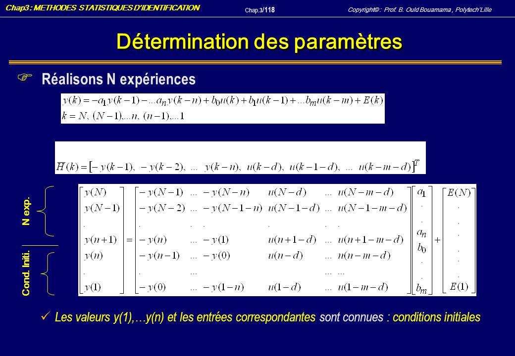 Détermination des paramètres