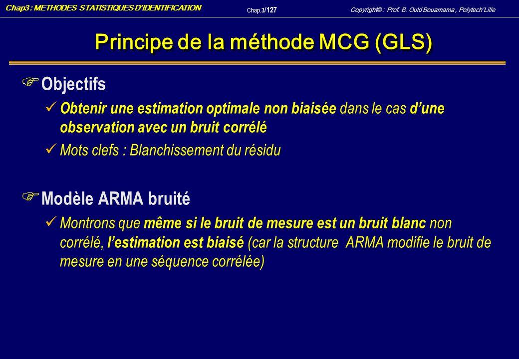 Principe de la méthode MCG (GLS)