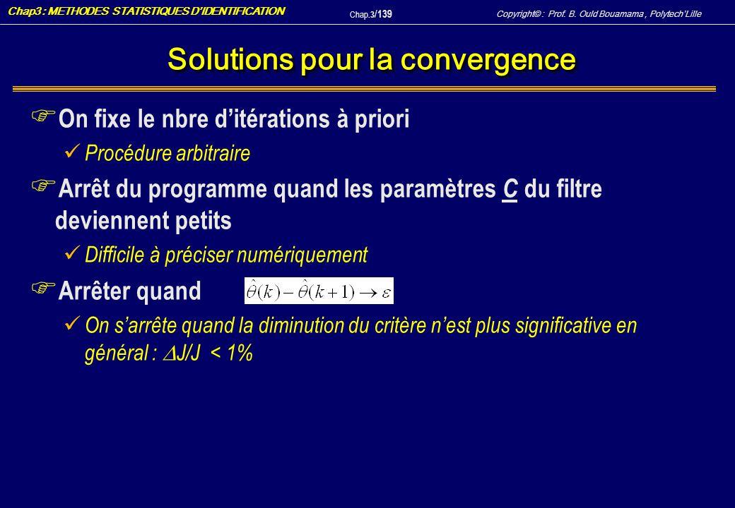 Solutions pour la convergence