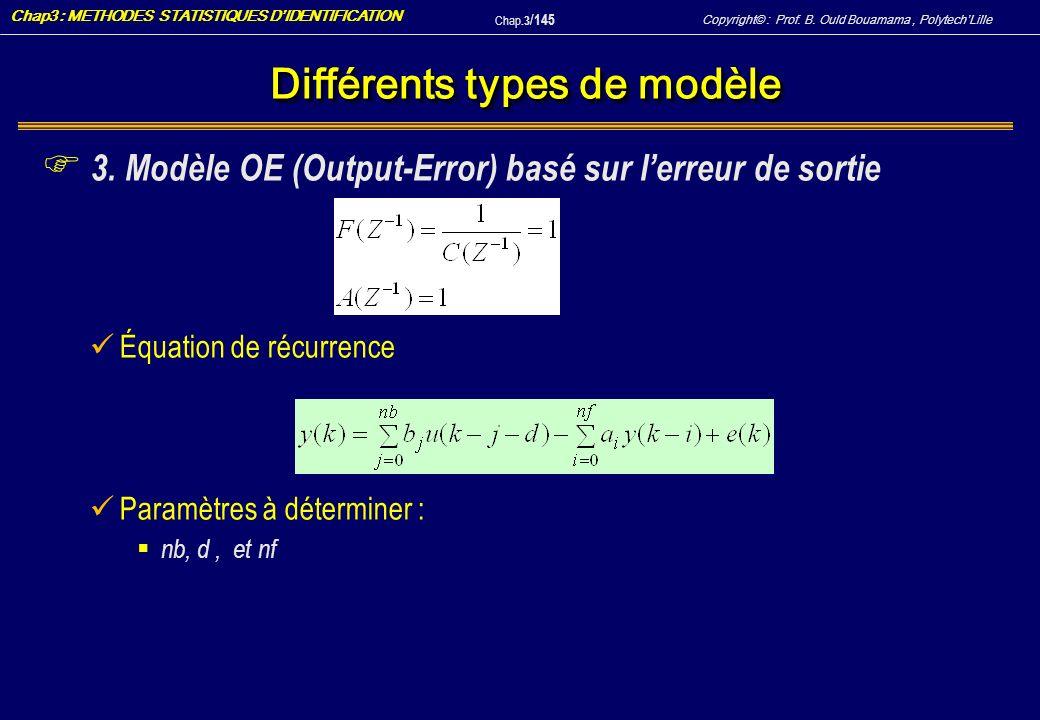 Différents types de modèle