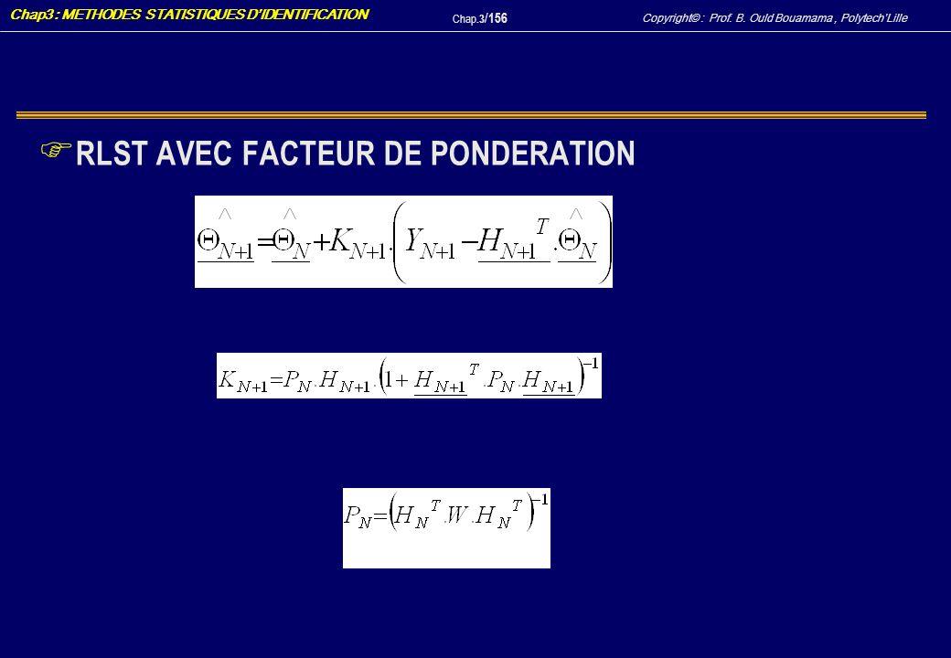 RLST AVEC FACTEUR DE PONDERATION
