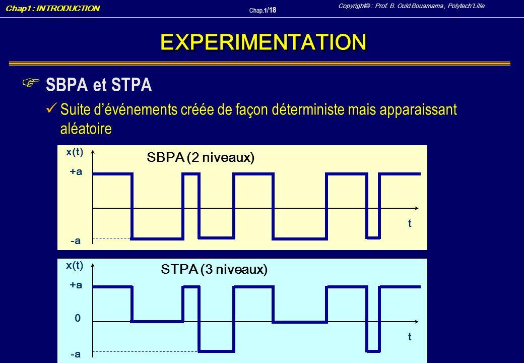 EXPERIMENTATION SBPA et STPA