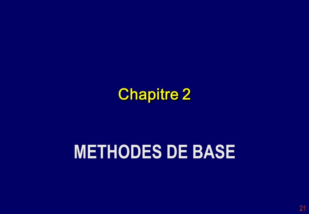 Chapitre 2 METHODES DE BASE