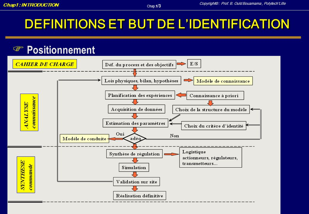 DEFINITIONS ET BUT DE L'IDENTIFICATION