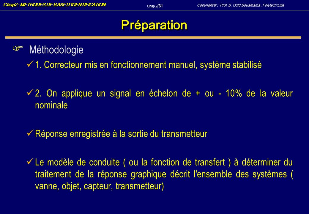 Préparation Méthodologie
