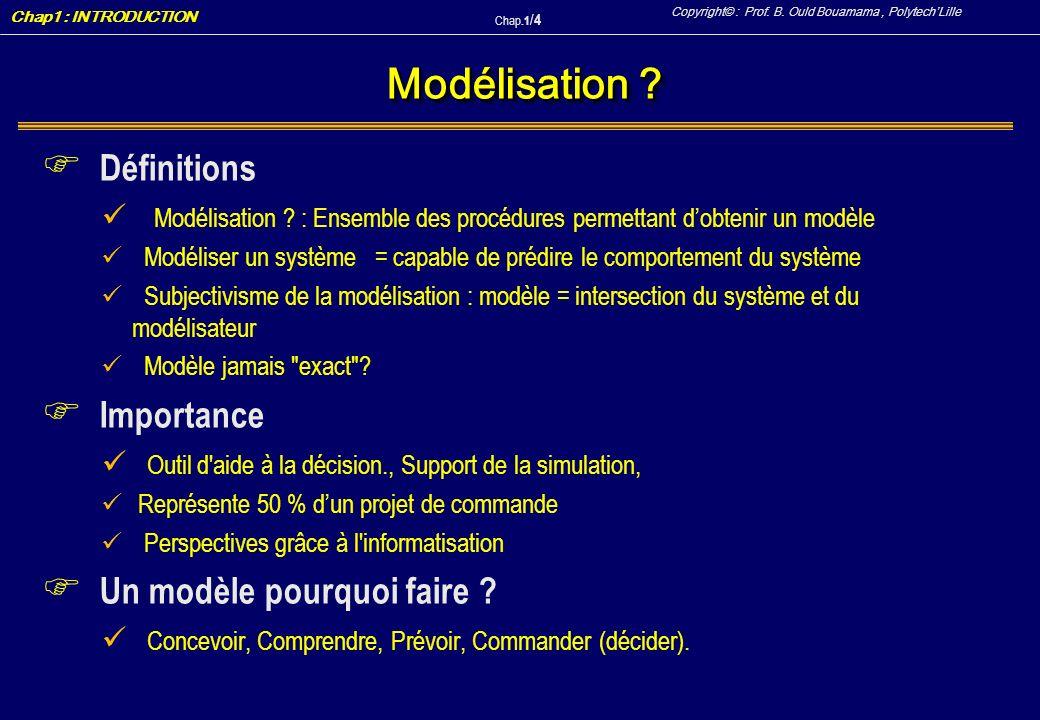 Modélisation Définitions Importance Un modèle pourquoi faire
