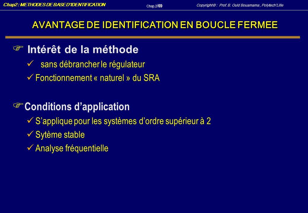 AVANTAGE DE IDENTIFICATION EN BOUCLE FERMEE