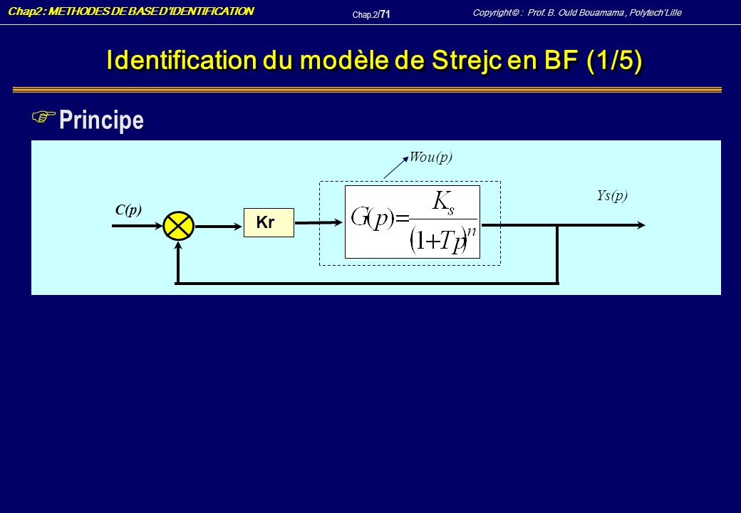Identification du modèle de Strejc en BF (1/5)