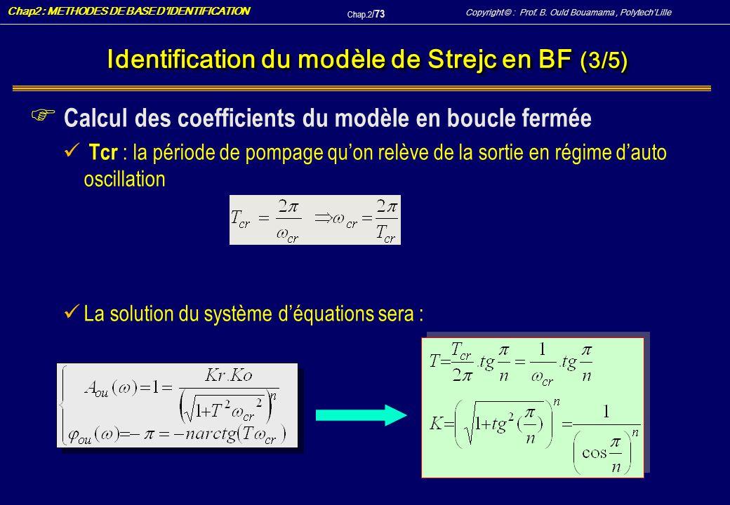 Identification du modèle de Strejc en BF (3/5)