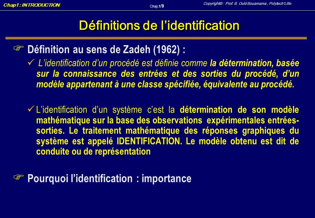 Définitions de l'identification