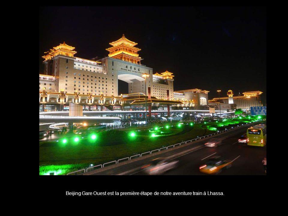 Beijing Gare Ouest est la première étape de notre aventure train à Lhassa.