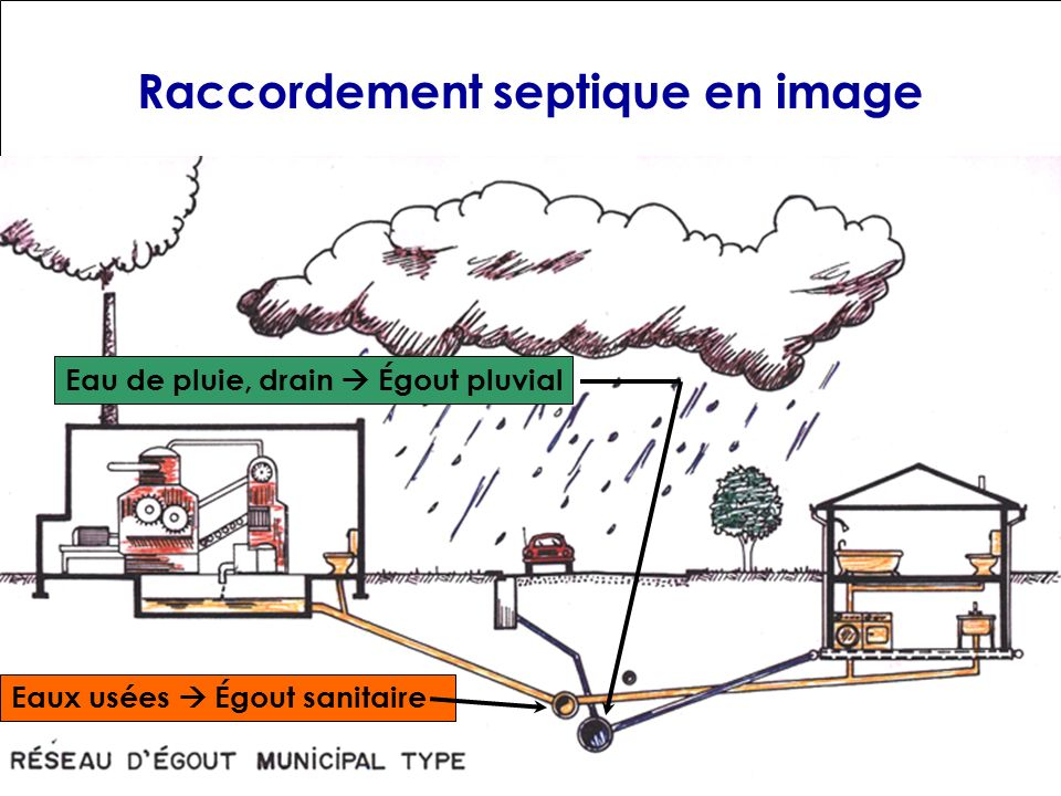Raccordement septique en image