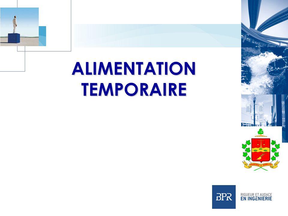 ALIMENTATION TEMPORAIRE