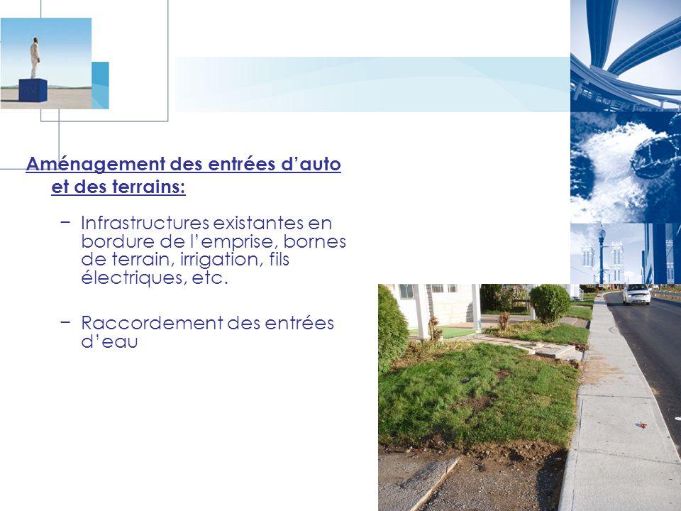Aménagement des entrées d'auto et des terrains: