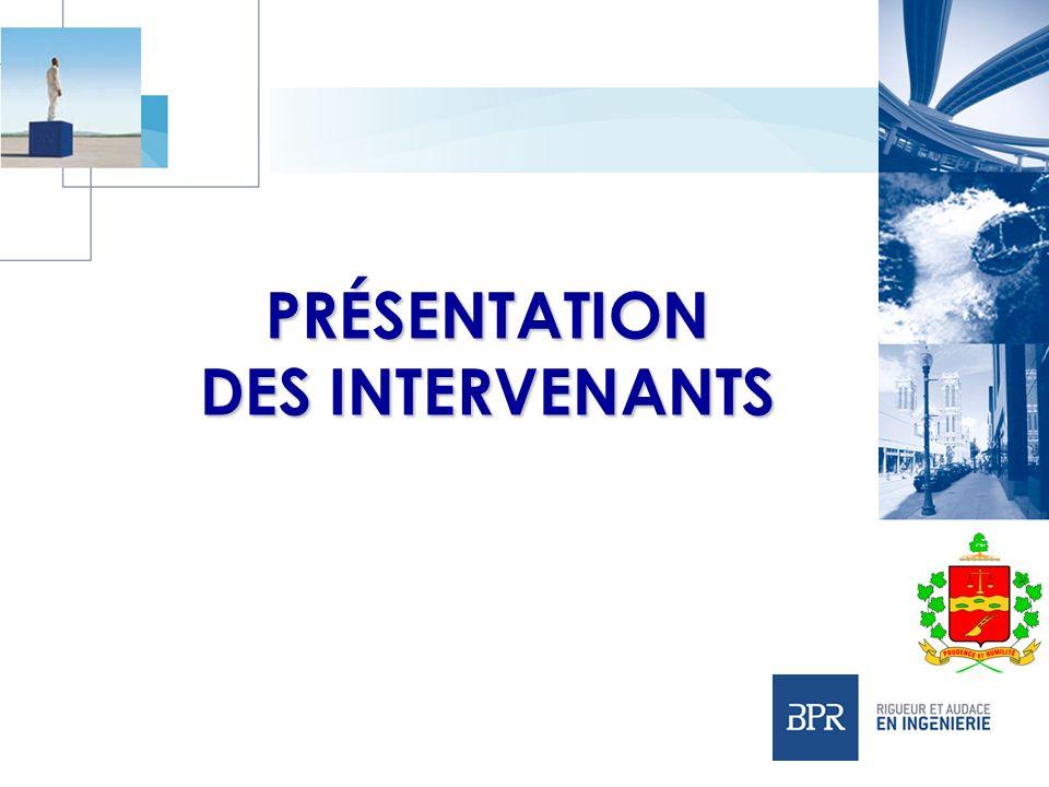 PRÉSENTATION DES INTERVENANTS