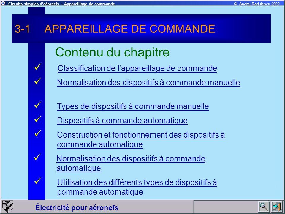 3-1 APPAREILLAGE DE COMMANDE