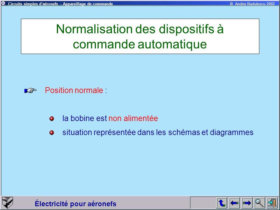 Normalisation des dispositifs à commande automatique
