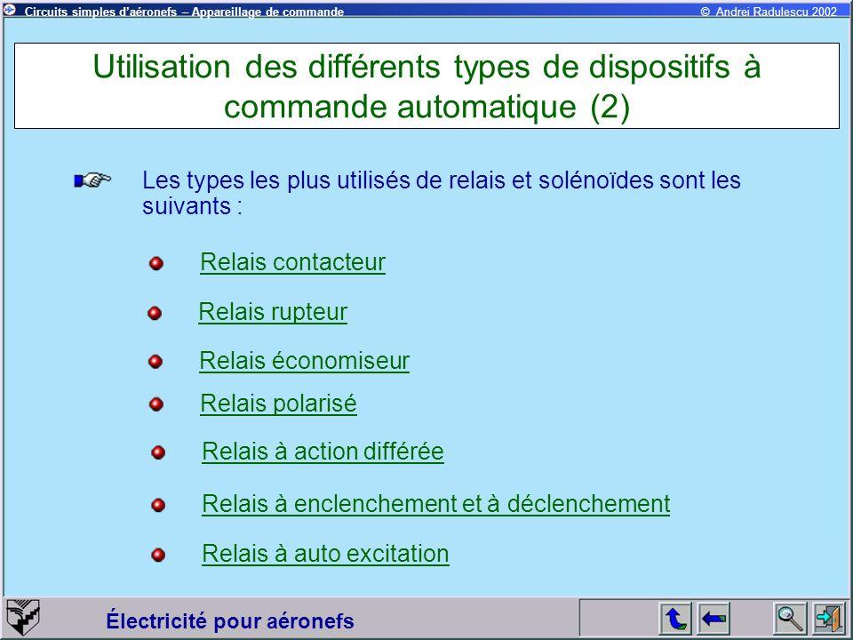 Utilisation des différents types de dispositifs à commande automatique (2)