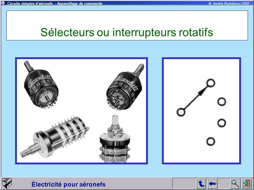 Sélecteurs ou interrupteurs rotatifs