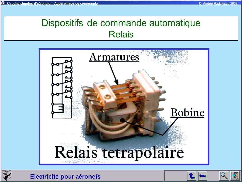 Dispositifs de commande automatique Relais