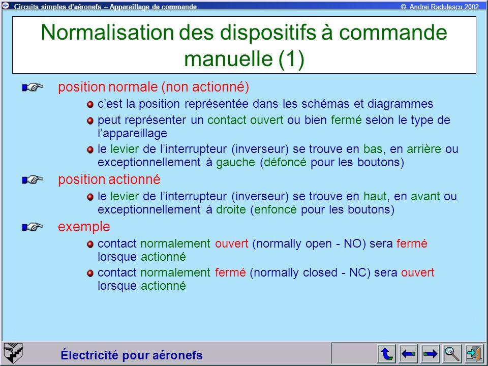 Normalisation des dispositifs à commande manuelle (1)