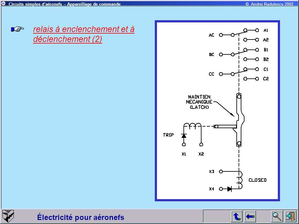 relais à enclenchement et à déclenchement (2)