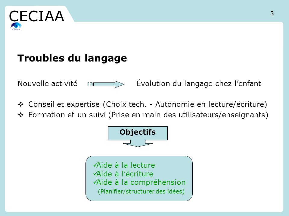 CECIAA Troubles du langage