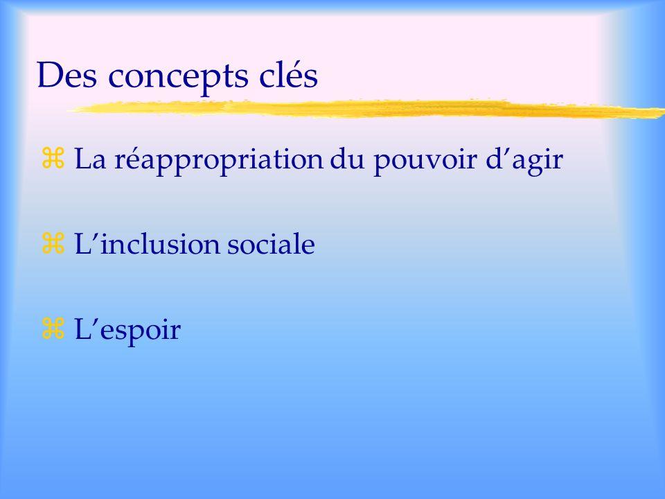 Des concepts clés La réappropriation du pouvoir d'agir