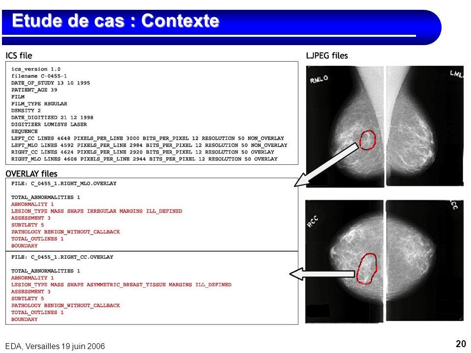 Etude de cas : Contexte EDA, Versailles 19 juin 2006