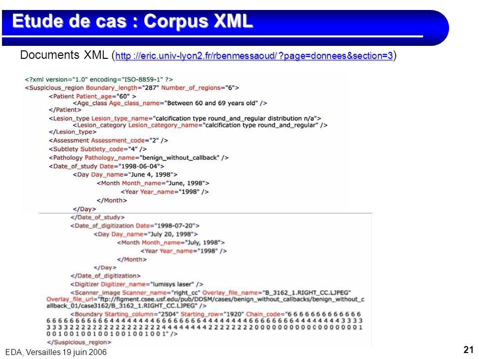 Etude de cas : Corpus XML