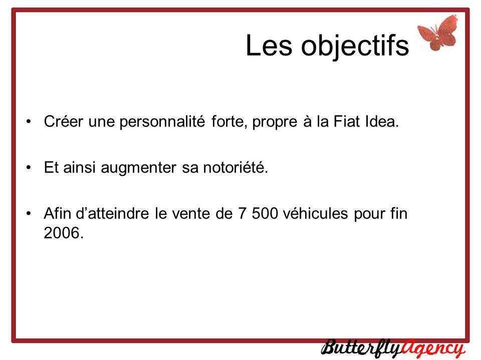 Les objectifs Créer une personnalité forte, propre à la Fiat Idea.
