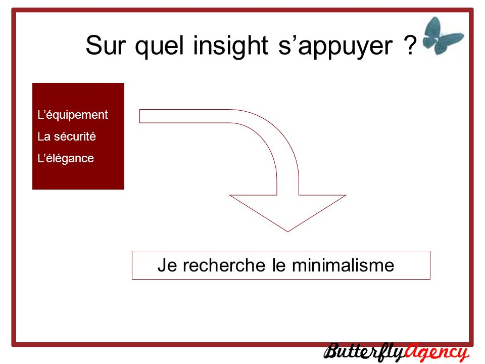 Sur quel insight s'appuyer