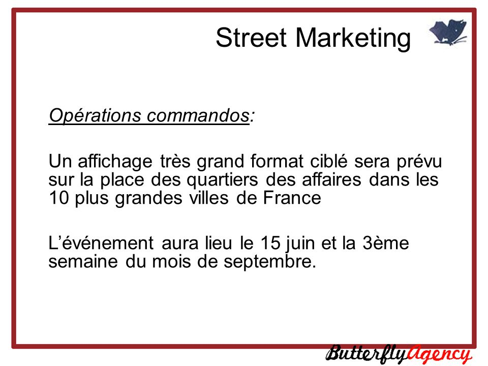 Street Marketing Opérations commandos: