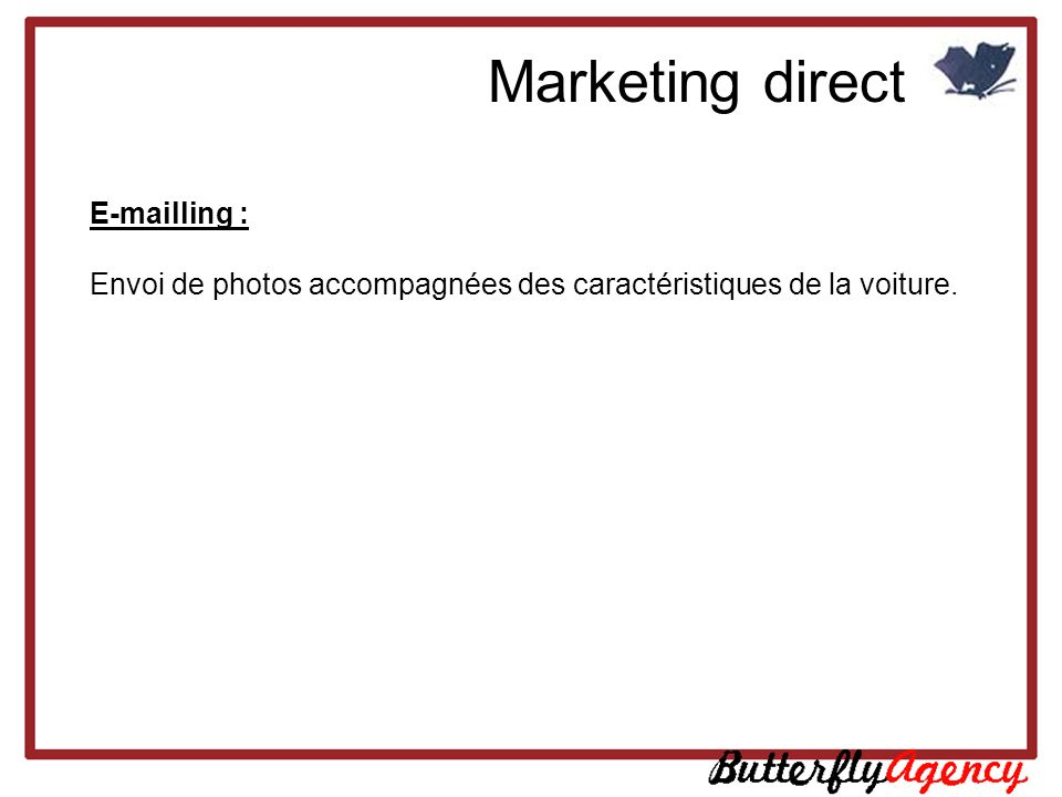 Marketing direct E-mailling :