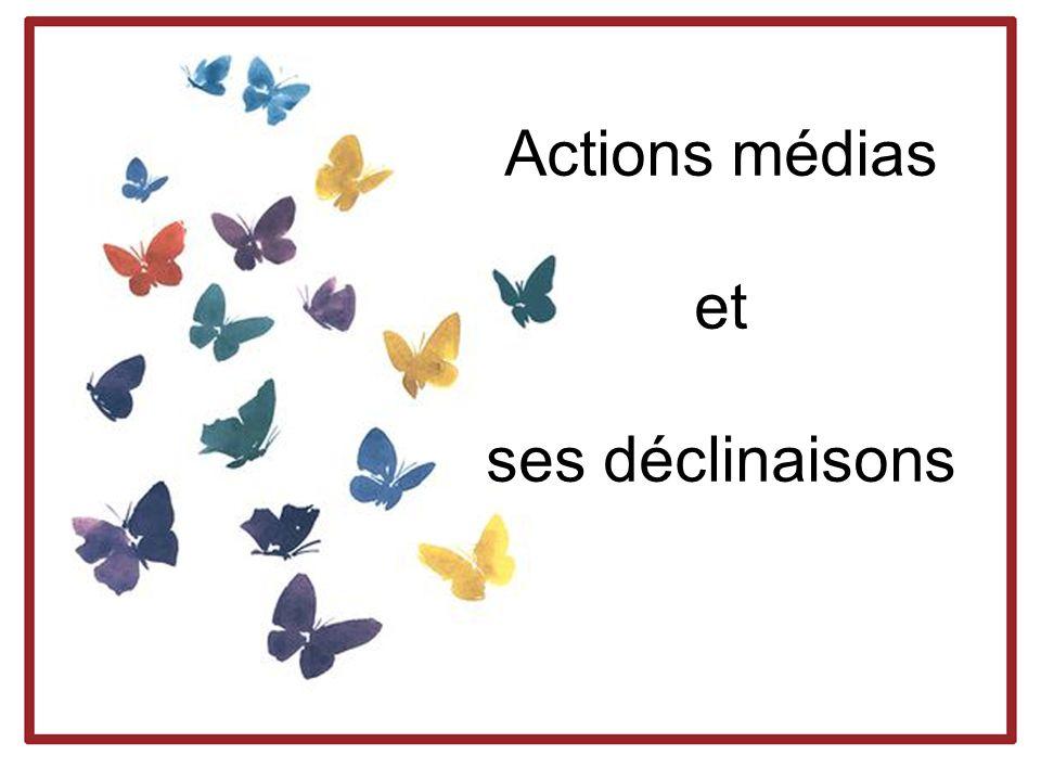 Actions médias et ses déclinaisons